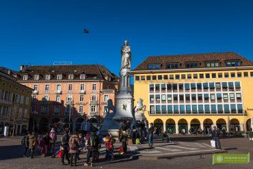 Bolzano; Południowy Tyrol; stolica Południowego Tyrolu; atrakcje Południowego Tyrolu; Bolzano atrakcje; Bolzano Włochy; Plac Walthera; Waltherplatz; Piazza Walther;