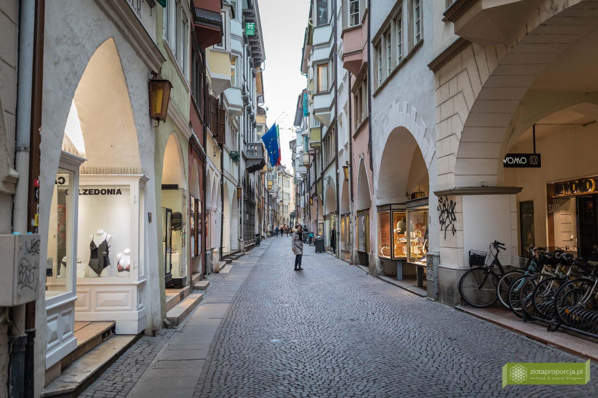 Bolzano; Południowy Tyrol; stolica Południowego Tyrolu; atrakcje Południowego Tyrolu; Bolzano atrakcje; Bolzano Włochy; via dei Portici