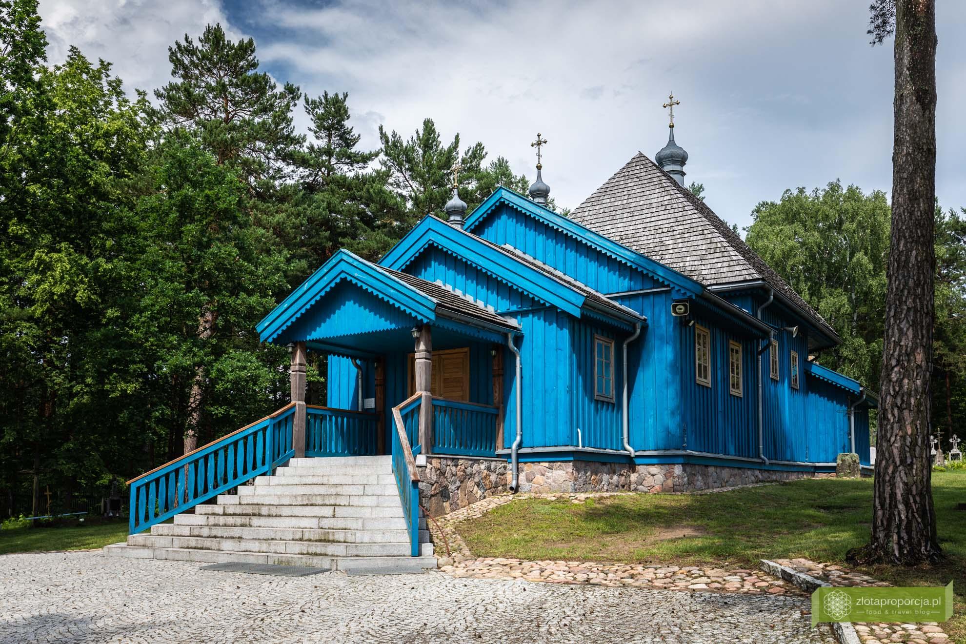 Podlasie; Podlasie rowerem; szlak drewnianych cerkwi Podlasie; okolice Hajnówki; Saki; cerkiew św. Dymitra Sołuńskiego Saki; najpiękniejsze cerkwie na Podlasiu;
