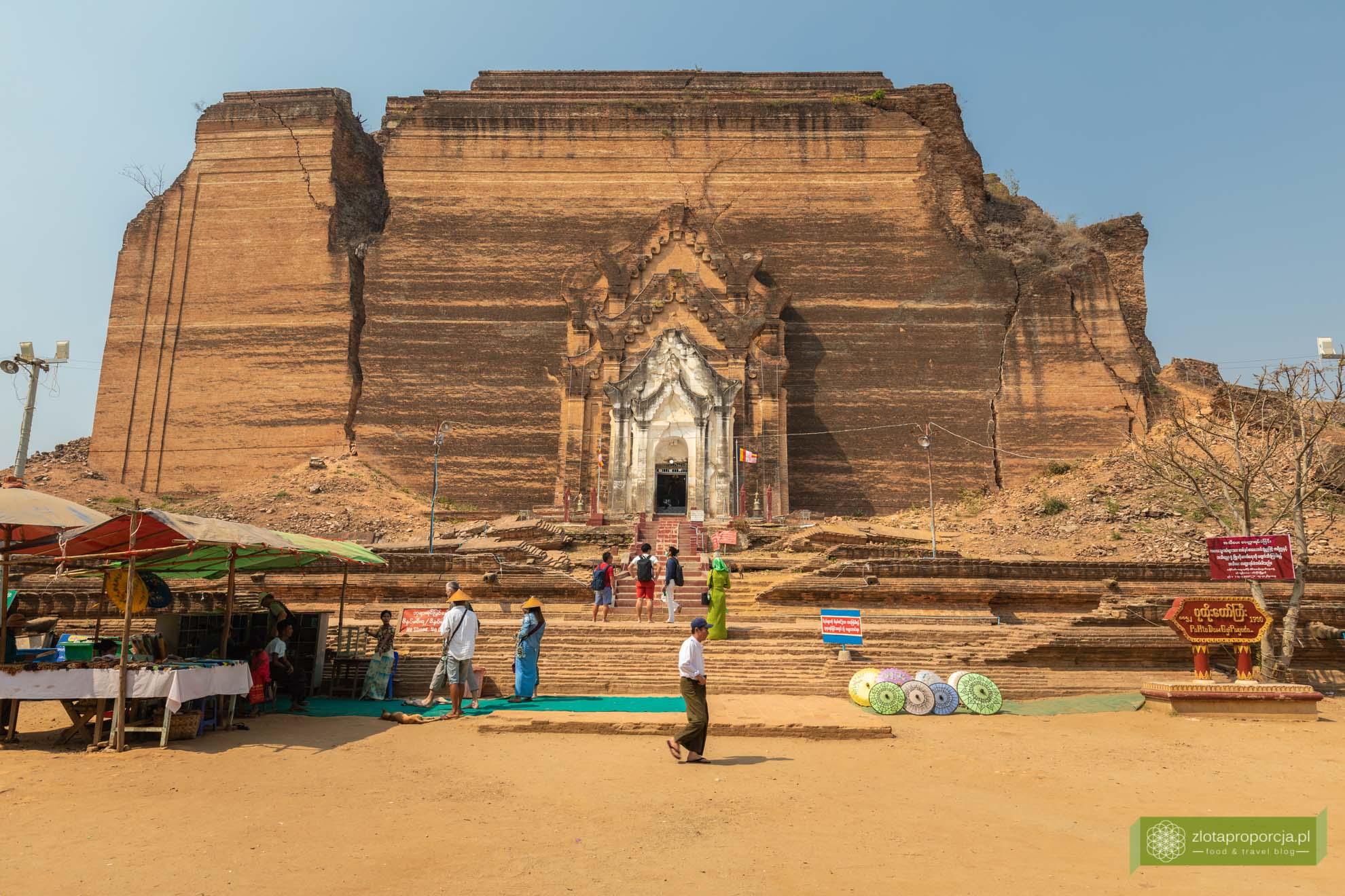 Birma; Mjanma; Myanmar; atrakcje Birmy; Birma podróże; Mingun; okolice Mandalay;